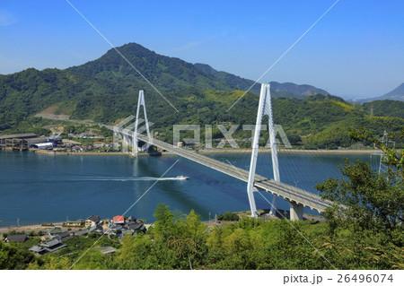 生口橋( 山伏山から )の写真素...
