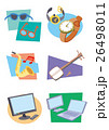 商店街アイコン、メガネ屋、時計店、楽器、電化製品、三味線、パソコン 26498011