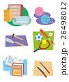 商店街アイコン、家具屋、毛糸屋、本屋、スポーツショップ、金物屋 26498012