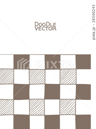 Hand drawn abstract chessboard pattern.のイラスト素材 [26500245] - PIXTA