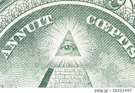 一ドル札のプロビデンスの目 26501447