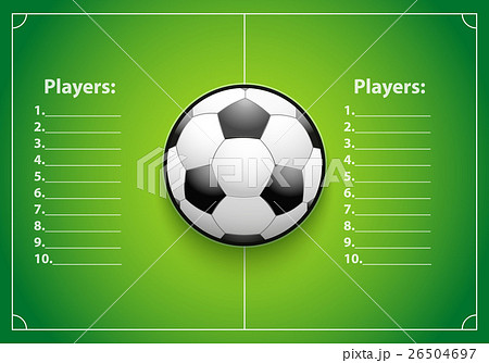 poster template of football field and ballのイラスト素材 26504697