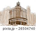 東京銀座四丁目 和光本館 時計台 セピア調 26504740