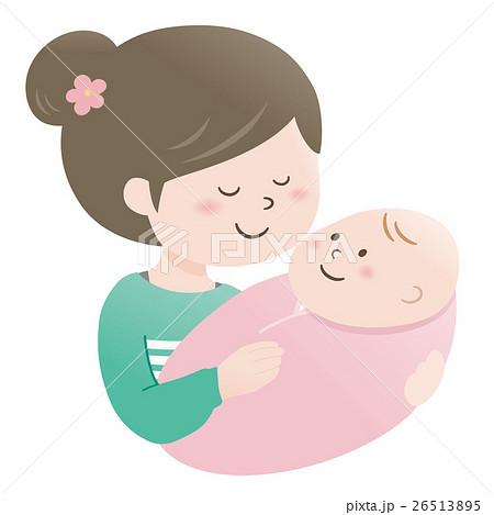ママと赤ちゃん(抱っこ) 26513895