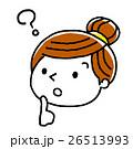 表情 ベクター 女性のイラスト 26513993