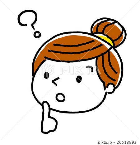 女性顔表情考える疑問のイラスト素材 26513993 Pixta
