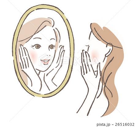 鏡を見る女性 26516032