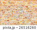 水彩 テクスチャー レンガ 26516260