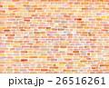 水彩 テクスチャー レンガ 26516261