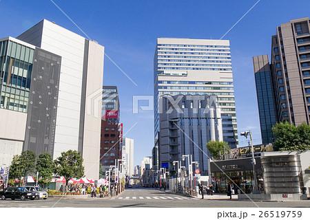 名古屋市都市風景 名駅通りから、泥江通りを望む 26519759