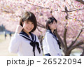 高校生と桜イメージ 26522094