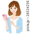 若い女性 スマホ 携帯電話 26524256