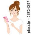 若い女性 スマホ 携帯電話 26524257