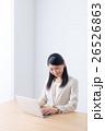 笑顔 ビジネスウーマン デスクワークの写真 26526863