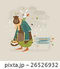 ベクトル くま クマのイラスト 26526932