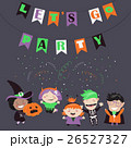 Children trick or treating in Halloween costume 26527327