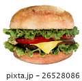 watercolor sketch: a burger on a white background 26528086