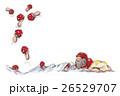 サンタクロース キノコ 雪のイラスト 26529707