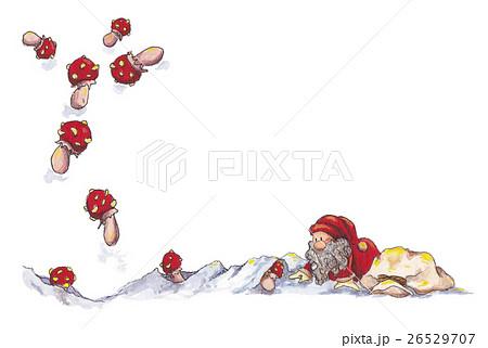 サンタクロース~雪とキノコ 26529707