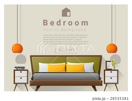 Interior design bedroom background 5 26535381