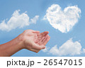 ハート雲と手 26547015