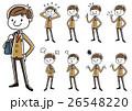 ブレザー 中学生 高校生のイラスト 26548220