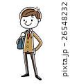 ブレザー 中学生 高校生のイラスト 26548232