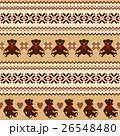 クマ ノルディック柄 模様編みのイラスト 26548480