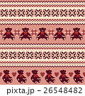 クマ ノルディック柄 模様編みのイラスト 26548482