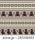 クマ ノルディック柄 模様編みのイラスト 26548483