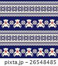 クマ ノルディック柄 模様編みのイラスト 26548485