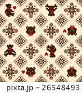 クマ ノルディック柄 模様編みのイラスト 26548493