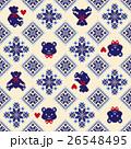 クマ ノルディック柄 模様編みのイラスト 26548495