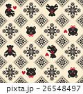 クマ ノルディック柄 模様編みのイラスト 26548497