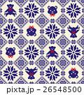 クマ ノルディック柄 模様編みのイラスト 26548500