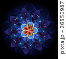 abstract blue flower 26550987