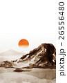 ハガキテンプレート 年賀状素材 和風のイラスト 26556480