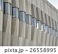 Facade of a modern building made of concrete with 26558995