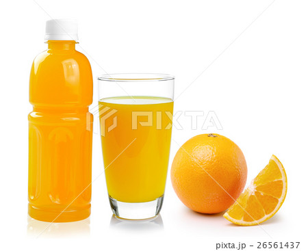 orange juice isolated on white backgroundの写真素材 [26561437] - PIXTA