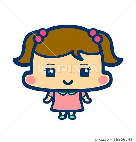 イラスト アイコン 女の子 ノーマルポーズのイラスト素材 26566543 Pixta