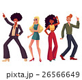 People in 1970s style clothes dancing disco 26566649