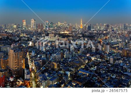 恵比寿ガーデンプレイスタワーより東京タワー方面の都市風景を望む 26567575
