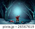 サンタクロース 魔法 幻想的なのイラスト 26567619