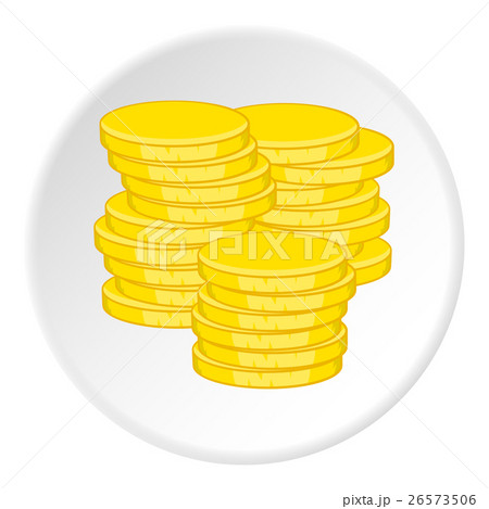 Gold coins icon, cartoon styleのイラスト素材 [26573506] - PIXTA