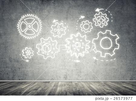 Gear mechanism as teamwork conceptの写真素材 [26573977] - PIXTA