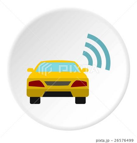 Ordering taxi via GPS icon, flat styleのイラスト素材 [26576499] - PIXTA