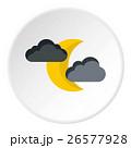 三日月型の 月 雲のイラスト 26577928