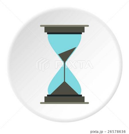 Hourglass icon, flat styleのイラスト素材 [26578636] - PIXTA