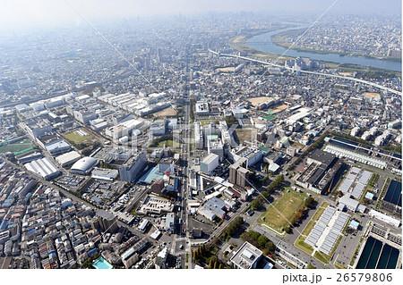 大阪府門真市を空撮の写真素材 [...