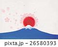 富士山と桜と日の丸 26580393